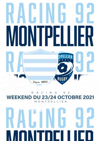 Racing 92-Montpellier à Paris La Défense Arena