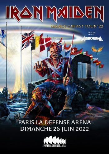 Iron Maiden en concert à Paris La Défense Arena