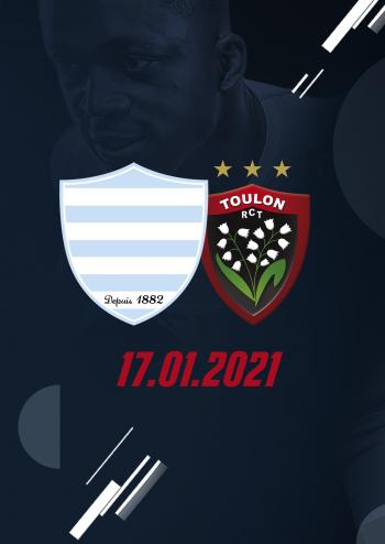Racing 92 affronte Toulon à Paris La Défense Arena en match en retard du Top 14 dimanche 17 janvier