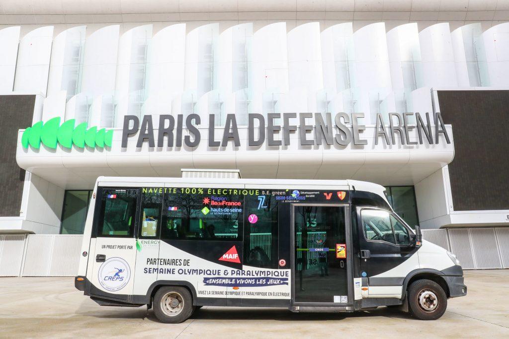 Paris La Défense Arena, futur site olympique pour Paris 2024.