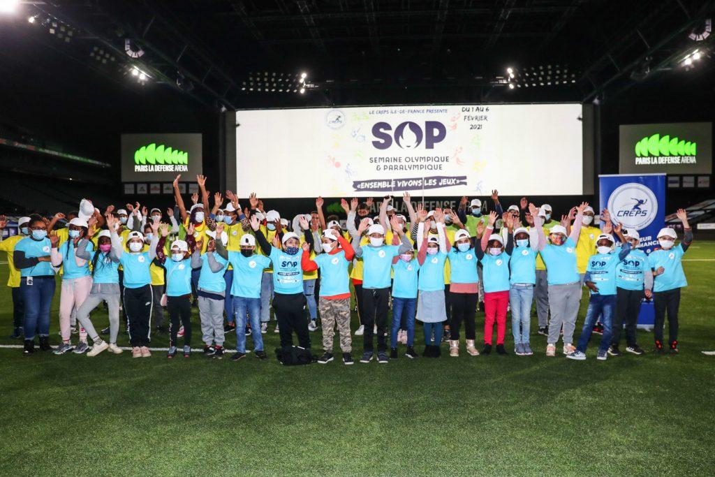 Les jeunes de Nanterre en visite à Paris La Défense Arena pour la semaine olympique et paralympique