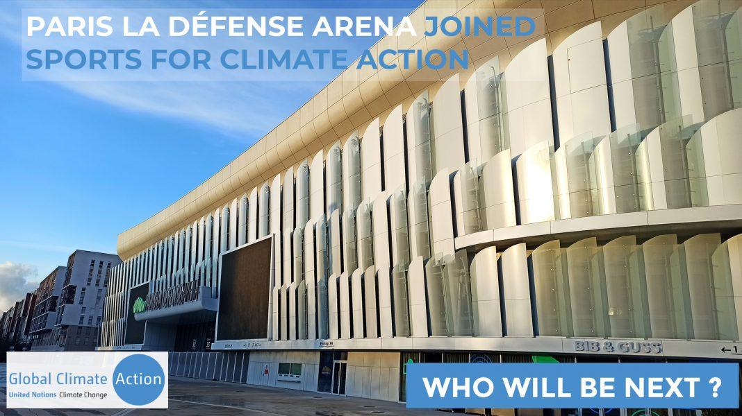 PARIS LA DÉFENSE ARENA REJOINT LE « SPORTS FOR CLIMATE ACTION » DE L'UNFCCC