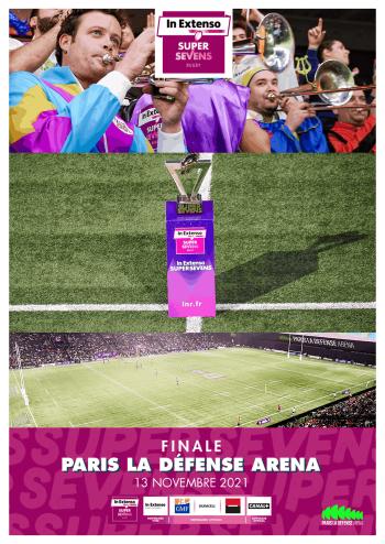 Affiche de l'IN Extenso Supersevens à Paris La Défense Arena, 2e édition