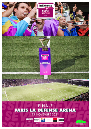 Affiche de l'IN Extenso Supersevens à Paris La Défense Arena, 2e édition