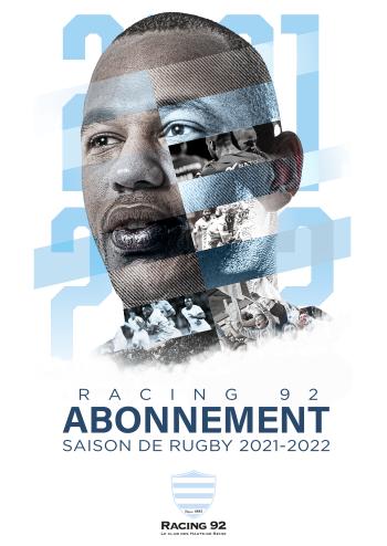Affiche abonnement Racing 92 saison 2021-2022