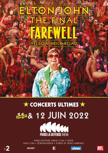 Elton John en concert à Paris La Défense Arena en juin 2022