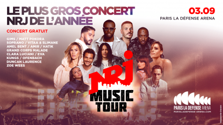 Affiche NRJ Music Tour à Paris La Défense Arena