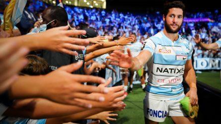 Maxime Machenaud fête la victoire avec le public de Paris La Défense Arena